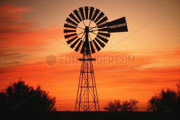 Windrad im Abendlicht  USA