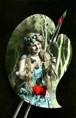 weiblich Liebesgoettin mit Pfeil und Bogen