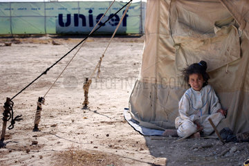 Kind in einem Fluechtlingslager der Vereinten Nationen in Al Hol