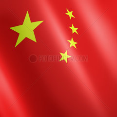 Chinesische Fahne mit gelben Sternen auf rotem Grund - flag of China with yellow stars on Red
