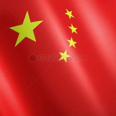 Chinesische Fahne mit gelben Sternen auf rotem Grund - flag of China with yellow stars on Red