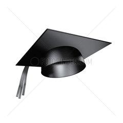 fliegender Doktorhut oder Graduierten Kappe