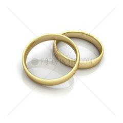 2 Ringe beieinander  Symbol fuer Fusion / Heirat