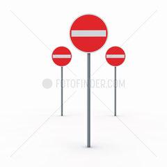 Durchfahrt verboten Schilder