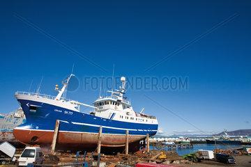 Iceland  ship in shipyard