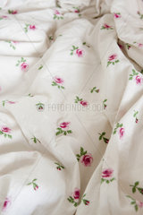 Floral patterned fabric  close-up