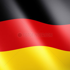 Deutsche oder Deutschland Fahne / Flagge - flag of the federal republic of germany