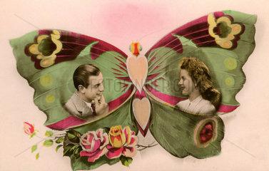 Paar in Schmetterling