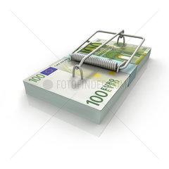 EURO-Mausefalle auf weissem Hintergrund