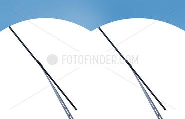Scheibenwischer auf Windschutzscheibe