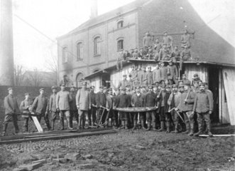 Erster Weltkrieg  Etappe an der Westfront  Bautrupp