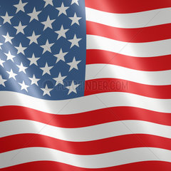 Amerikanische oder US Fahne / Flagge - flag of the United States of America