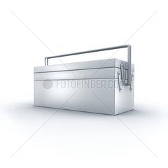 Werkzeugkasten auf weissem Hintergrund - toolkit  toolbox