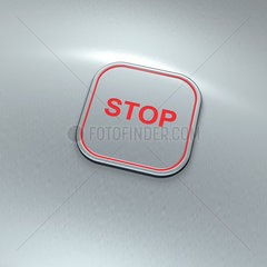 Taste Stop  Notfall - stop switch  digital