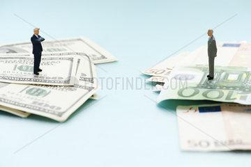 Euro economy competes with American dollar economy