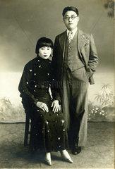 Chinesisches Paar ca 1930