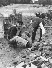 Bauarbeiter  Wiederaufbau