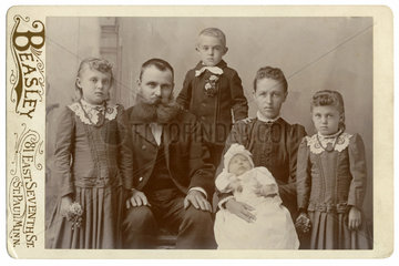 deutsche Auswanderer  Familie  in den USA  1898