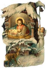 Christi Geburt  Krippe  Weihnachten  1901