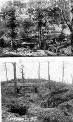 Ebernburg 1915  vor und nach der Schlacht  Erster Weltkrieg