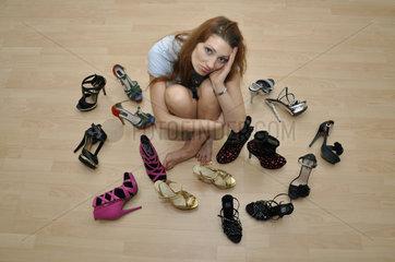 Schuhe einer Frau