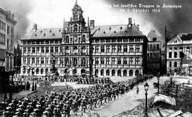 Einzug deutscher Truppen Antwerpen 1914
