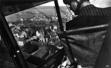 Blick aus dem Flugzeug  1940