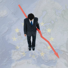 The European Union experiences economic recession