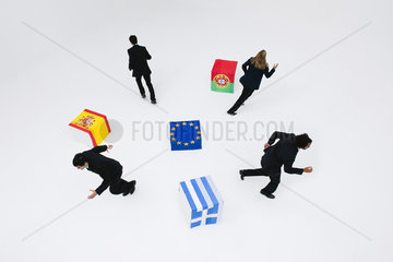 Greece  Portugal and Spain consider leaving the European Union due to economic recession
