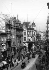 D-Berlin: historische Aufnahme Friedrichstrasse Ecke Behrenstrasse