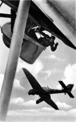 Militaereinsatz mit Flugzeug  1940