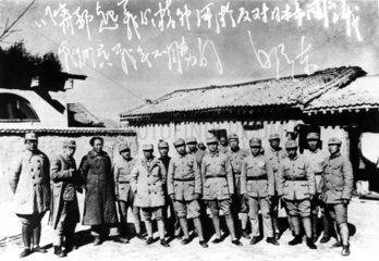 Mao Tse-Tung mit Truppen