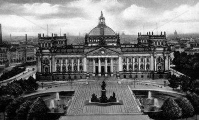D-Berlin  1930  Der Reichstag von oben