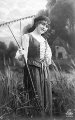 Frau auf Feld