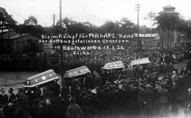 Trauerzug der Revolutionsopfer 1920