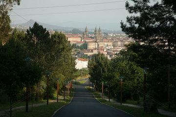 Blick auf Santiago de Compostela - Camino de Santiago