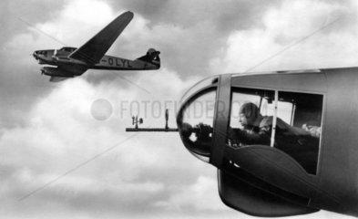 Bordkanonier in einem Flugzeug