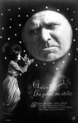 Frau mit traurigem Mann im Mond 1910
