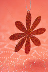 Flower shaped Christmas ornament