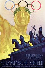 Berlin  Olympiade 1936 Plakat