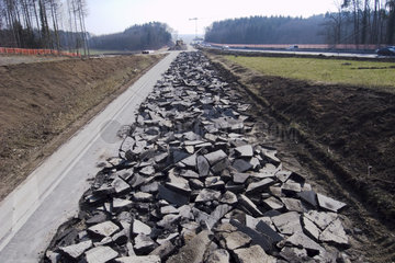 Strassenbau auf der Autobahn