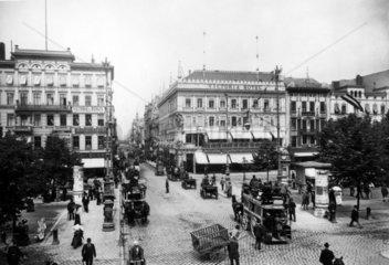 D-Berlin: Unter den Linden Ecke Friedrichstrasse 1898