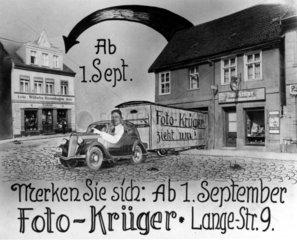 Foto-Krueger Werbekarte  1920