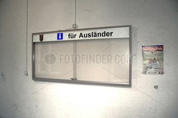 Informationstafel fuer Auslaender