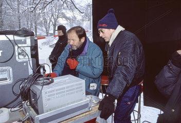 Bernd Eichinger bei Dreharbeiten  1995