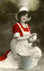 Junge Putzfrau  1900