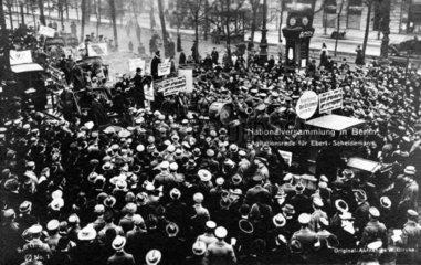 Agitationsrede fuer die erste Wahl 1920