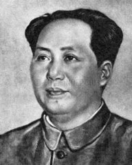 Portraet von Mao Tse-tung 1951