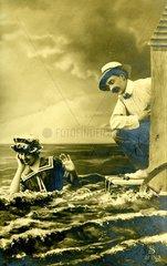 1900 Paar am Meer