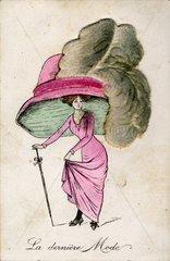 Modekarikatur Huete  ca 1900